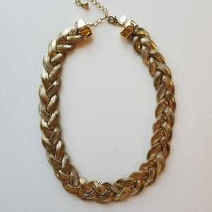 EXPRESS Bold Gold Statement Necklace